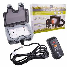 BG Nexus Outdoor Power Kit with Double IP66 Socket & RCD Plug 3m Cable WP22KIT/3