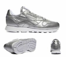 3c88644f0ce Reebok CLASSIC Ladies Leather Spirit Silver Trainer Shoe - FREE UK POSTAGE