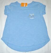 Gymboree Wildflower Weekend I Wake Up AWEsome Blue Pocket Shirt 6 Kid Girls NWT