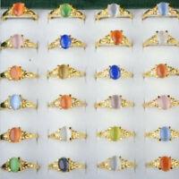 10Stück Großhandel Bunte Kristall Strass Ring Edelstein Ringe Damen Modeschmuck