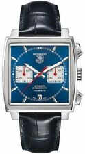 Tag Heuer Monaco Blue Chronograph Calibre 12 Auto Men's Watch CAW2111.FC6183