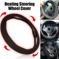 Auto Car Steering Wheel Cover 38cm Heated Protector Universal Winter Accessories