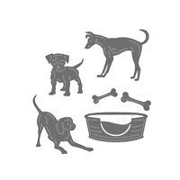 Stanzschablone Hund Knochen Tier Weihnachts Hochzeit Geburtstag Karte Album Deko