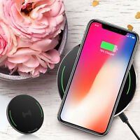 Black Original Qi Wireless Fast Charger Charging Pad iPhone XS XR Max US Version