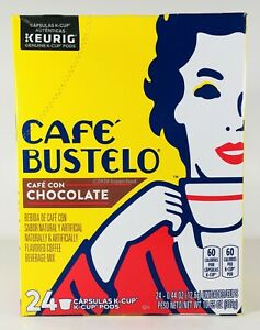 Cafe Bustelo Cafe Con Chocolate Flavored Coffee KCUP Pods, 24 KCups, August 2020