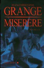 Livre miserere Jean-Christophe Grangé book