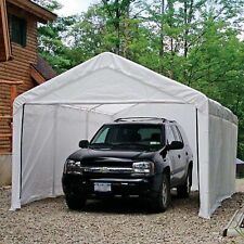 Enclosure Kit For Your Garage Canopy 12' x 20' White Outdoor Car Port Shelter