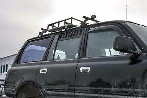 Toyota Land Cruiser J80: Station Wagon 2nd Row Door Window Vents Screens, set/2