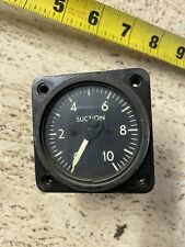 Cessna Mooney Piper  airplane aircraft vacuum suction gauge