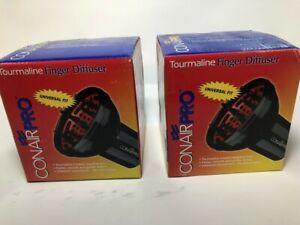 Conair Pro Tourmaline Universal Finger Diffuser, Black (pack of 2)