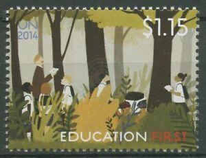 UNO New York 2014 Initiative Bildung GEFI Waldexkursion 1428 postfrisch