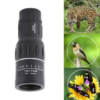 16x52 Day & Night Vision HD Zoom Dual Focus Monocular Telescope 66M/8000M +Pouch