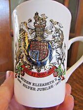 QUEEN ELIZABETH II Silver Jubilee 1952-1977 Coffee Cup, Mug
