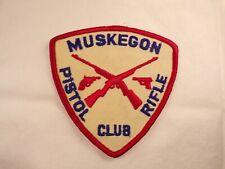 Vintage Muskegon Michigan Pistol Rifle Club Sportsman's Club Patch West Michigan
