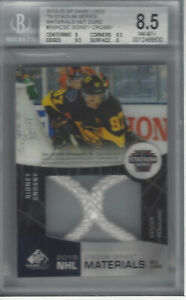 SIDNEY CROSBY 2019-20 SP GAME USED '19 ALL STAR GAME MAT NET CORD 10/35 BGS 8.5