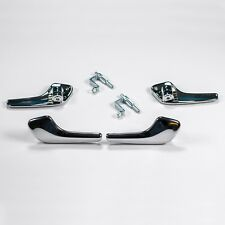 Vauxhall CORSA D CHROME INTERIOR DOOR HANDLE RIGHT AND LEFT WITH CONNECTING ROD
