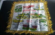 Vtg KANSAS CITY Heart of America/ different SITES Pillowcase Sham w/Fringe