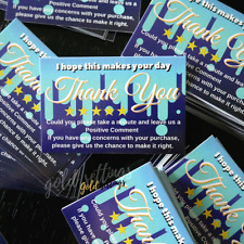 HIGH GLOSSY 100 THANK YOU BUSINESS CARDS FOR EBAY AMAZON ETSY