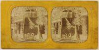 Francia Tuileries Salon Trono Foto c1860 Diorama Stereo Albumina Vintage