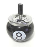 Spinning  Ashtray Billiard Pool 8 Ball Cigarette Ash Tray Odor Eliminator