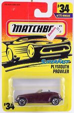 Matchbox MB 34 Plymouth Prowler Thailand 5 Spoke Wheels Purple Grill 1997 MOC