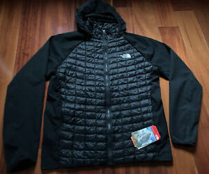 Mens North Face Active Fit Thermoball Hooked Jacket Black Medium $180