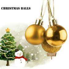 6 cm Golden Natale Decorazione Albero Natale Palline Infrangibili Bauble GOLDEN 6PC