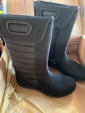 Patagonia Women's Fiona Natural Primaloft Flat Quilted Boots Black US Sz 6
