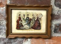 Vintage Godey's Fashions for 1870 Advertising Print Wood Framed Kresge's