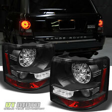 Black 2006-2009 Land Rover Range Rover Sport Lumileds LED Tail Lights Rear Lamps