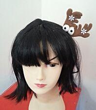 Xmas Christmas Antler Reindeer Hair Clip Hairclip