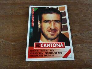 Eric Cantona - Panini Super Players 96 Football Sticker - VGC! 1996