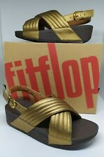 100% Authentic FitFlop Women's Lulu Padded Sandal in Bronze Size 6,7,8