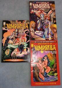 "3 ""Vengeance of Vampirella"" Comic Books By Harris! Excellent! Lot B"