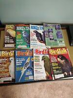 Lot of  8 issues 1995 birds talk magazine APR, JUN, JUL, AUG, SEP, OCT, NOV, DEC