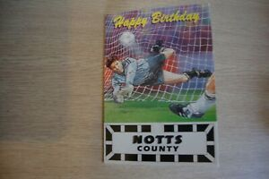 1995/96 Official Notts County Birthday Card Autographed by 23 -Players & Manager