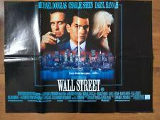 WALL STREET 1987  original cinema U.K. quad poster Michael Douglas Charlie Sheen