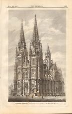 1867 ANTIQUE PRINT- ARCHITECTURE - GERMANY - RATISBON CATHEDRAL
