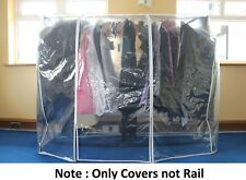 Hoesh UK Strong Clear Clothes Rail Cover Garment Coat Hanger Protector Storage