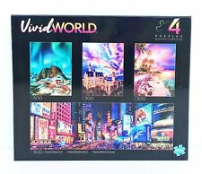 Buffalo Games Vivid World 4 in 1 jigsaw puzzle (1) 500 pc + (3) 300 pc FREE SHIP