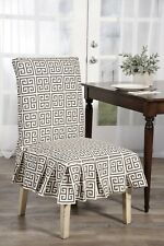 Classic Slipcovers Geo print box pleated Dining Chair Covers Set of 2