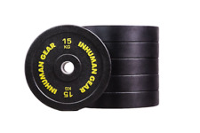 1 x 15 kg Pro Bumper Plate Hantel Olympic Bar Crossfit Fitness home gym