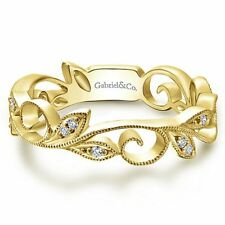 Gabriel & Co 14k Yellow Gold 0.09ct Diamond Stack Stackable Ring LR4593Y45JJ