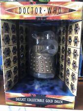 Doctor Who Dalek Figure Diecast Metal Gold 2004 - BBC