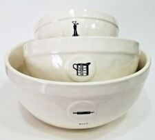 Rae Dunn by Magenta Bowls Measure/Mix/Roll Farmhouse Kitchen Collection New