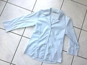 DONALDSON Designer Bluse 3/4Arm in Blau Gr.38 ein Klassiker wie NEU