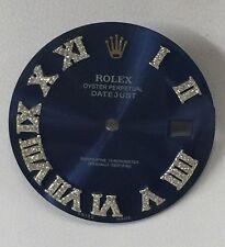 Rolex Men's Datejust Ii Cobalt Blue Custom Romans Diamonds Numbers Dial S-S