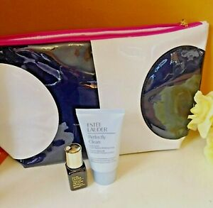 Estee Lauder Set; Advance Night Repair Lotion, Make up Remover & Make up Bag New