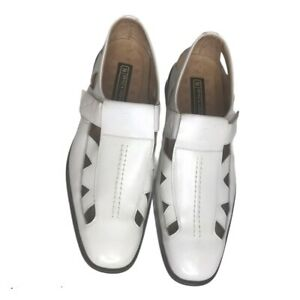 Stacy Adams Leather Lining White Shoes Size 10