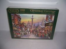 "Falcon De Luxe Christmas Carriage 1000 Piece Puzzle  26.8"" x 19.3"" New Sealed!"